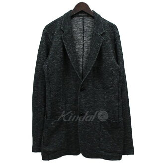 YOHJI YAMAMOTO COSTUME D HOMME knit 2B tailored jacket charcoal gray size: 3 (ヨウジヤマモトコスチュームドオム)