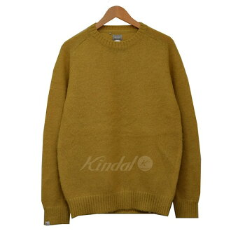 Use of DELUXE deluxe yellowtail tissue wool knit sweater yellow size: L/40 (デルークス)