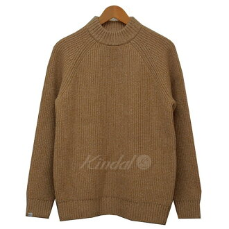 DELUXE deluxe mock neck knit sweater camel size: L (デルークス)