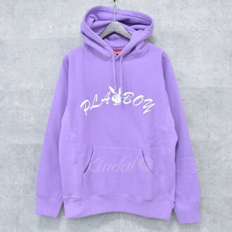 SUPREME X PLAY BOY 17SS Hooded Sweatshirt pullover parka purple size: M (シュプリームプレイボーイ)