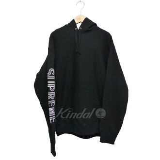 SUPREME 2018SS Sleeve Embroidery Hooded Sweatshirt black size: M (シュプリーム)