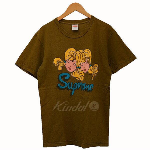 【中古】Supreme 2013AW Twins Tee ツインズ Tシャツ 双子 ブラウン サイズ:M 【送料無料】 【150818】(シュプリーム)