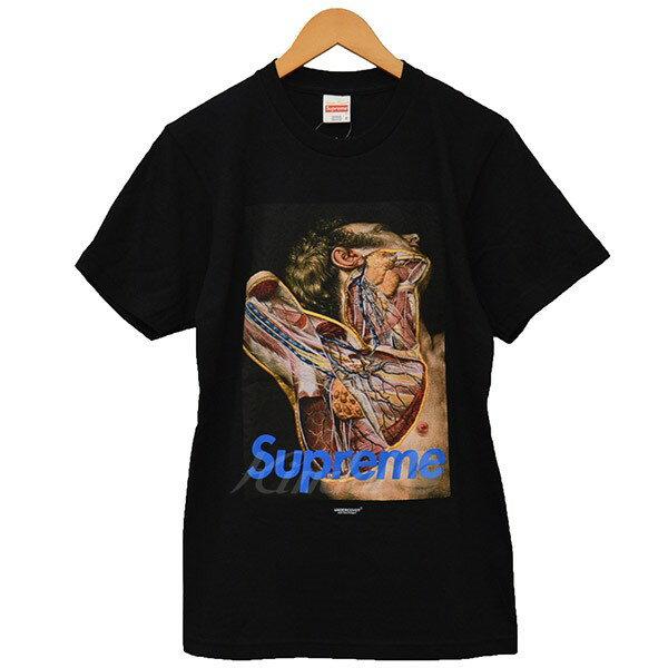 【中古】Supreme×UNDER COVER 2016AW Anatomy Tee アナトミー Tシャツ ブラック サイズ:S 【送料無料】 【280818】(シュプリーム×アンダーカバー)