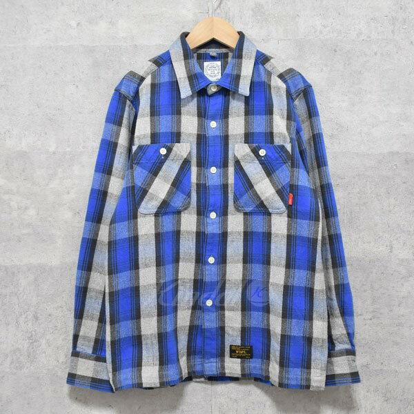 【中古】W)taps チェックシャツ UNION L/S 01 ブルー×グレー サイズ:S 【送料無料】 【240918】(ダブルタップス)