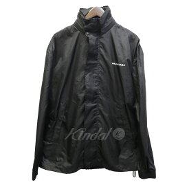 【6月13日 お値段見直しました】【中古】BALENCIAGA17SS ロゴプリントジャケット ブラック サイズ:S
