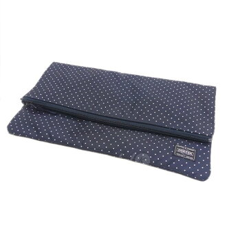 8aaabf3957f9 kindal  HEAD PORTER PLUS dot pattern clutch bag navy size  - (head porter  plus)