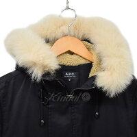 【中古】A.P.C.N-3Bフォックスファー中綿ジャケットコートブラックサイズ:S【送料無料】【121118】(アーペーセー)