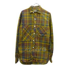 【中古】Engineered Garmentsチェックシャツ イエロー×ネイビー サイズ:S