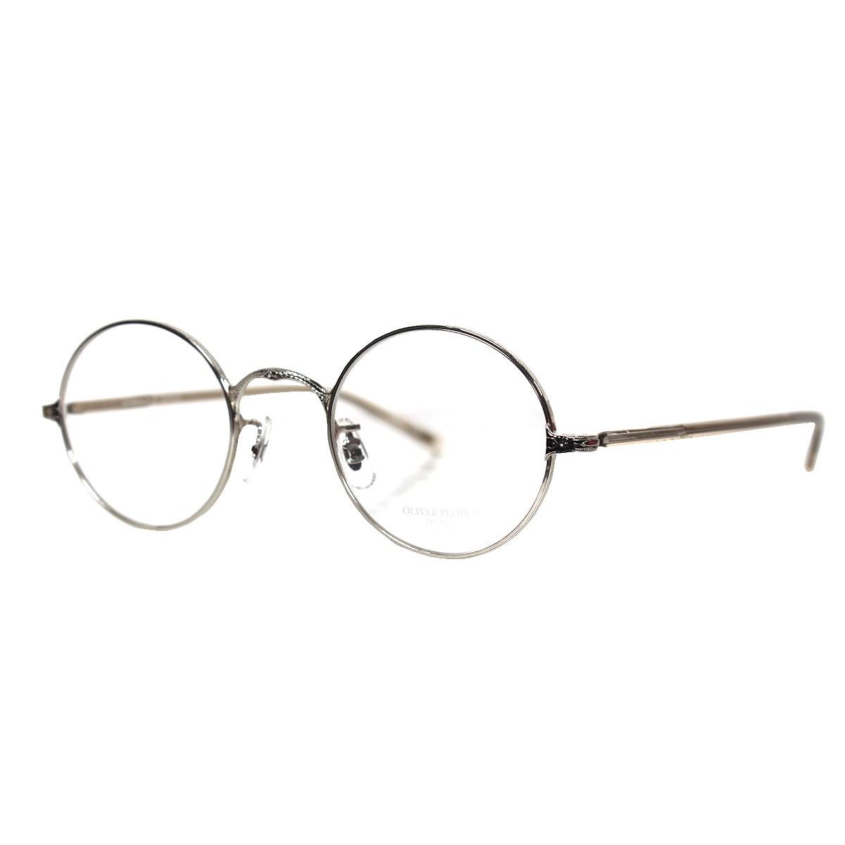 【中古】OLIVER PEOPLES 44 22-145-OP-5 S ラウンドフレームメガネ 丸眼鏡 シルバー×クリア サイズ:- 【送料無料】 【181118】(オリバーピープルズ)