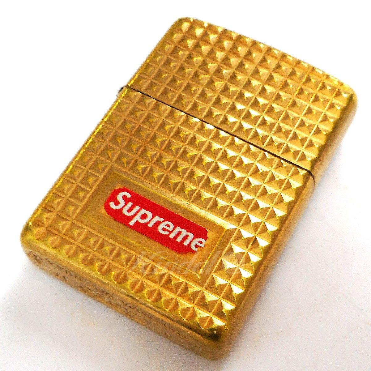 【中古】SUPREME 17AW Diamond Cut Zippo ダイヤモンドカットジッポ ゴールド 【091218】(シュプリーム)