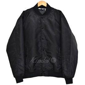 【中古】Good ENOUGH VARSITY JACKET ボンバージャケット ブラック サイズ:L 【180119】(グッドイナフ)