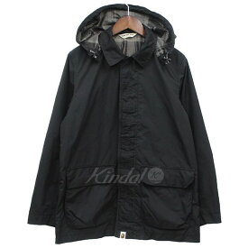 【5月6日 お値段見直しました】【中古】A BATHING APE2WAY フーデッド ブルゾン ジャケット ブラック サイズ:S
