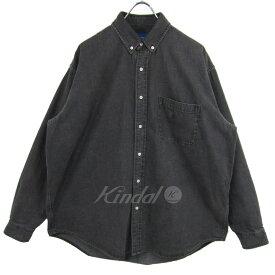 【6月13日 お値段見直しました】【中古】BEAMSデニム イージー ボタンダウン シャツ グレー サイズ:M