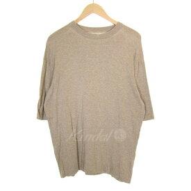 【7月1日 お値段見直しました】【中古】crepusculeknit tee 半袖ニットTシャツ ベージュ サイズ:2