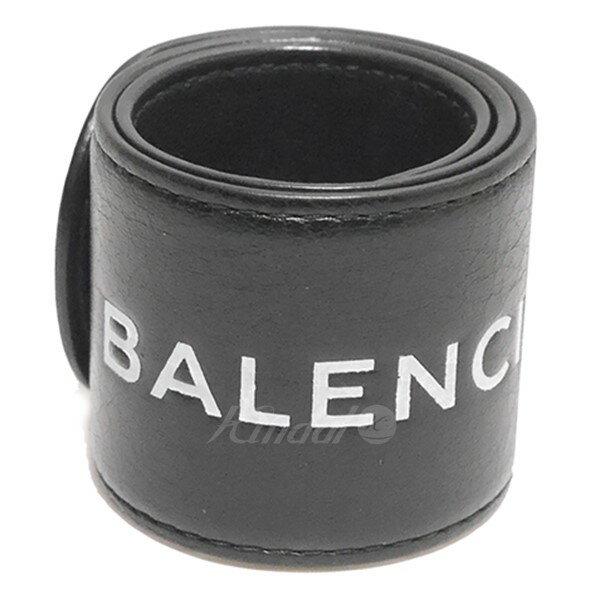 【中古】BALENCIAGA 2017AW サイクル ロゴ レザーブレス ブラック サイズ:- 【送料無料】 【140319】(バレンシアガ)