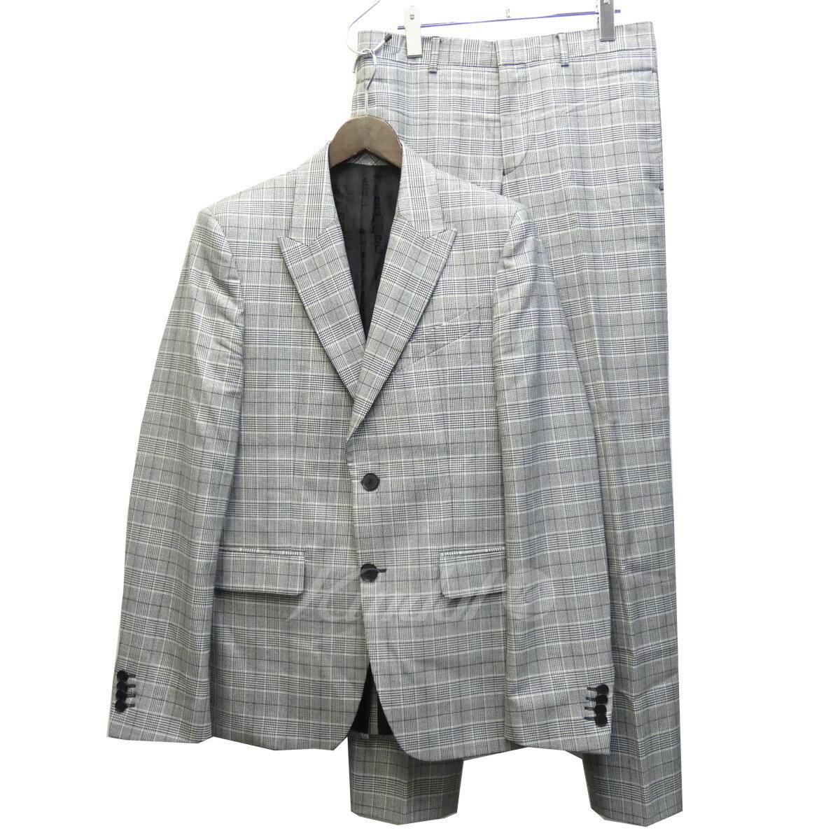 【中古】GIVENCHY SAMPLE品 グレンチェックセットアップスーツ グレー サイズ:48/48 【送料無料】 【220319】(ジバンシィ)