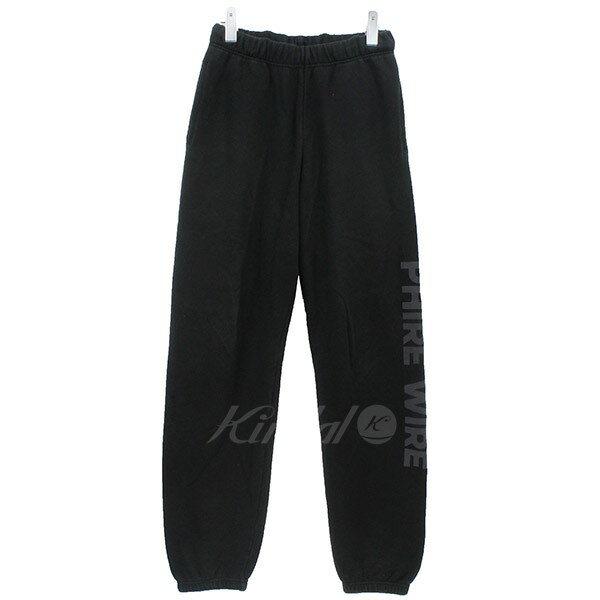 【中古】PHIRE WIRE ロゴスウェットパンツ ブラック サイズ:M 【220319】(ファイヤーワイヤー)