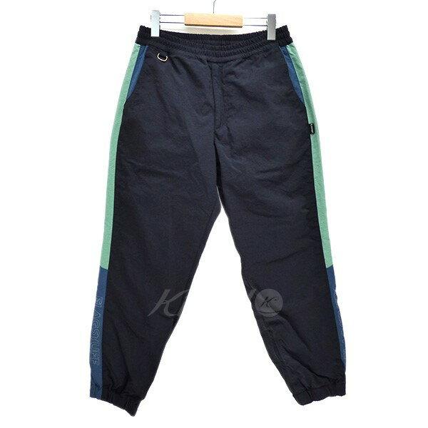 【中古】FLAGSTUFF 2018SS NYLON TRACK PANTS サイドライン ナイロン トラックパンツ ネイビー サイズ:S 【220319】(フラグスタフ)