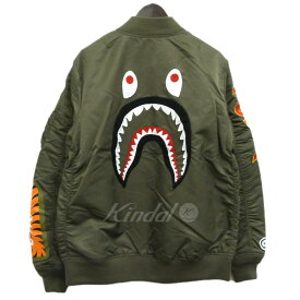 【中古】A BATHING APE 19SS「LIGHT WEIGHT SHARK MA-1」シャークMA-1ジャケット 【178820】 【KIND1828】