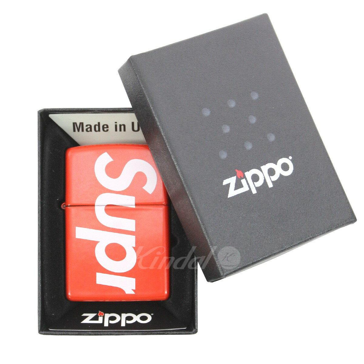 【中古】SUPREME 18SS Logo Zippo ロゴジッポオイルライター レッド サイズ:- 【送料無料】 【020419】(シュプリーム)