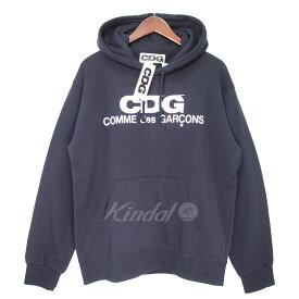 【中古】CDG COMME des GARCONS 19SS ロゴパーカー Hooded Sweatshirt 【019254】 【KJ1772】