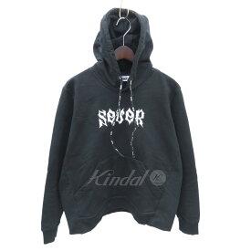 【中古】SEVER Emdroidered Hoodie 刺繍パーカー ブラック サイズ:S 【290419】(サーバー)