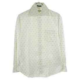 【中古】Paul Smithドットシャツ ホワイト×ブルー サイズ:S