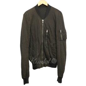 【中古】Rick Owens スウェットMA-1ジャケット ダークシャドー サイズ:XS 【140519】(リックオウエンス)