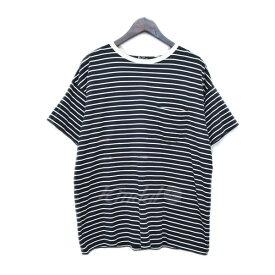 【中古】THE RERACS 16SS ボーダー柄ポケットTシャツ 16SS-RECS-103 ダークネイビー・ホワイト サイズ:50 【150519】(ザ リラクス)