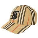 【7月18日 お値段見直しました】【中古】BURBERRY2019SS アイコンストライプ ベースボールキャップ TB ロゴ 帽子 ブラ…