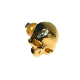 【中古】JAM HOME MADE K18 レボリューションスカルピアス ゴールド 【250519】(ジャムホームメイド)