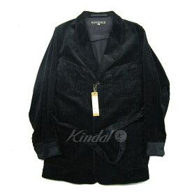【中古】HAVERSACK コーデュロイロングジャケット ブラック サイズ:L 【280519】(ハバーサック)