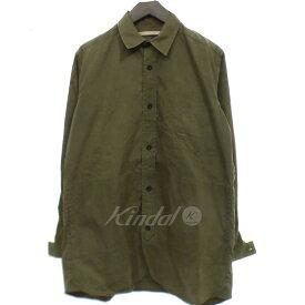 【中古】FRANK LEDER 【2017A/W】 シャツ ジャケット オリーブ サイズ:S 【070619】(フランクリーダー)
