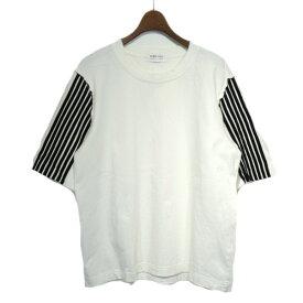 【中古】Dima Leu スリーブストライプTシャツ ホワイト サイズ:M 【120619】(ディマレウ)