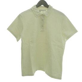 【中古】J.W.Anderson 「HEAVY COTTON POLO SHIRT」ヘビーコットンポロシャツ ホワイト サイズ:L 【150619】(ジョナサンウィリアムアンダーソン)