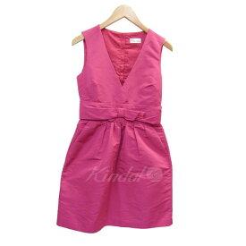 【中古】RED VALENTINO タフタノースリーブワンピース ピンク サイズ:38 【170619】(レッド・ヴァレンティノ)