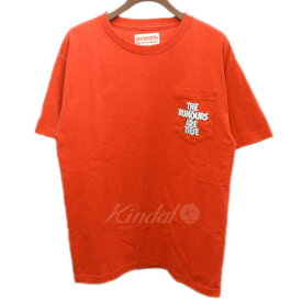 【中古】RHC Ron Herman BORED HOLIDAY 胸ポケットTシャツ レッド サイズ:M 【180619】(アールエイチシー ロンハーマン)