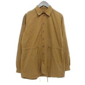 【中古】FRANK LEDER BRUSHED COTTON SHIRT ブラウン サイズ:S 【250619】(フランクリーダー)