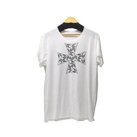 【中古】LUCIEN PELLAT-FINET クロススカルT ホワイト サイズ:L 【260619】(ルシアンペラフィネ)