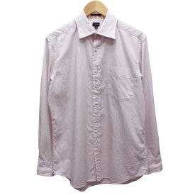 【10月17日 お値段見直しました】【中古】Paul Smith LONDONストライプ シャツ 襟袖裏地 花柄 ピンク、ホワイト他 サイズ:M
