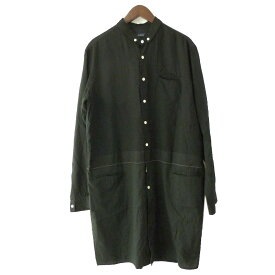 【中古】Jhon UNDERCOVER 17SS 異素材切替ロングシャツ ブラック サイズ:3 【030719】(ジョン アンダーカバー)