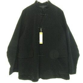【中古】HAVERSACK 2018AW モールチェックスリーピングジャケット カンフージャケット ブラック サイズ:L 【070719】(ハバーサック)