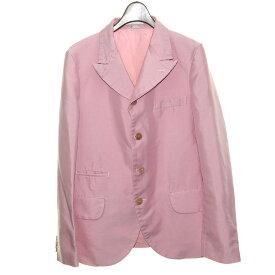 【中古】COMME des GARCONS HOMME PLUS18SS ポリ縮テーラードジャケット ピンク サイズ:XS