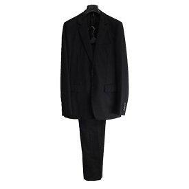 【中古】Dior Homme 2008AW ストライプ柄セットアップ ブラック サイズ:46 【120719】(ディオールオム)