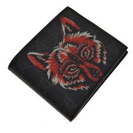 【中古】GUCCI GG Supreme wallet 二つ折り財布 ブラック サイズ:- 【150719】(グッチ)