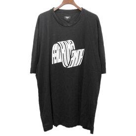 【9月16日 お値段見直しました】【中古】FENDI2019SS Fendi Roma AmorコットンTシャツ ブラック サイズ:XXL