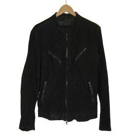 【中古】ISAMU KATAYAMA BACKLASH レザーシングルライダースジャケット ブラック サイズ:L 【020819】(イサムカタヤマバックラッシュ)