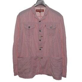 【中古】JUNYA WATANABE CdG MAN×Levis ギンガムチェックシャツジャケット 【248999】 【KIND1828】