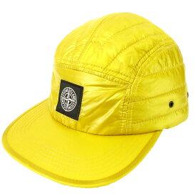 【中古】STONE ISLAND「Logo Quilted Cap」ロゴキルティングキャップ イエロー サイズ:- 【6月1日見直し】