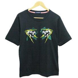 【中古】JohnUNDERCOVER スカル刺繍半袖Tシャツ16SS ブラック サイズ:3 【200819】(ジョンアンダーカバー)